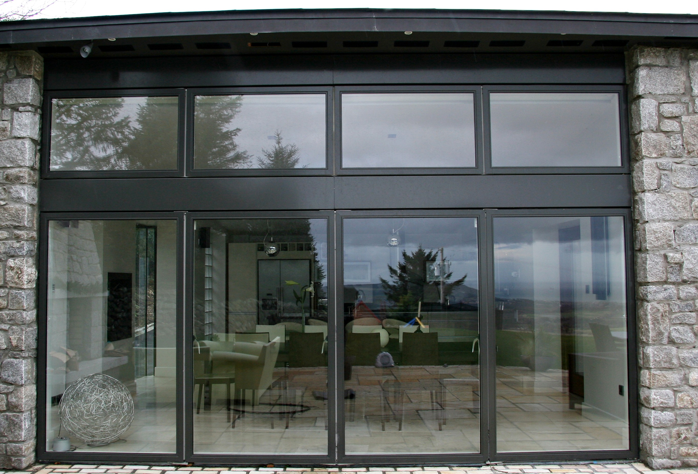 Exterior glass sliding pocket doors for Sliding double doors